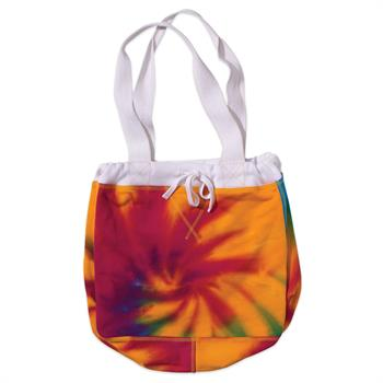 Rainbow Swirl Sweatshirt Tote Bag