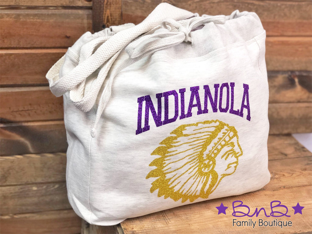 Indian Head Sweatshirt Tote Bag
