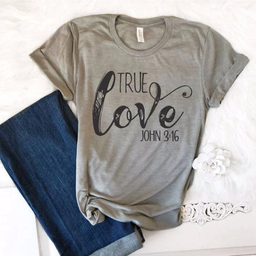 True Love Graphic Tee For Women