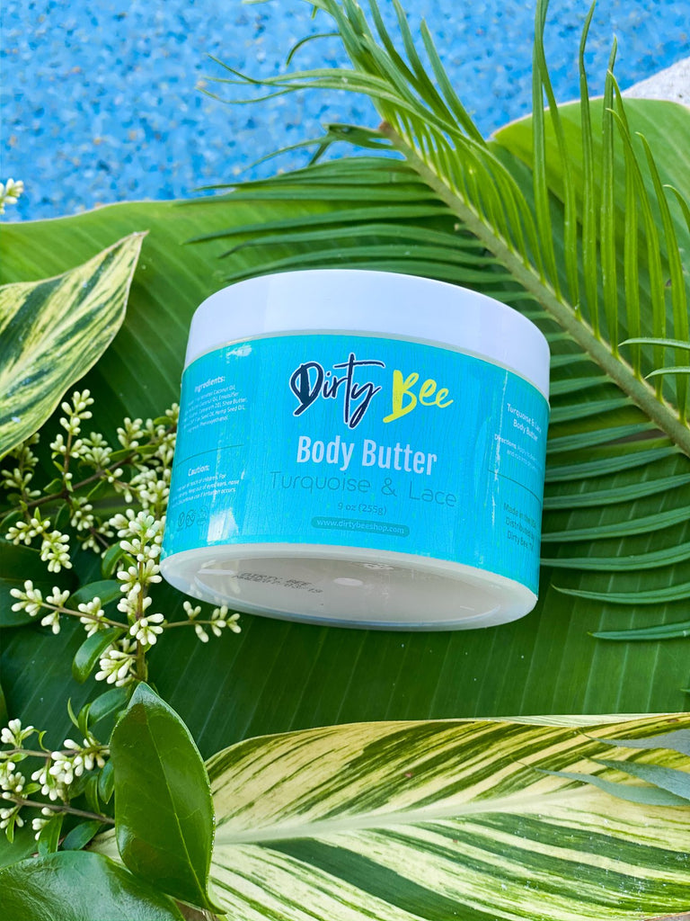 Dirty Bee Turquoise & Lace Body Butter