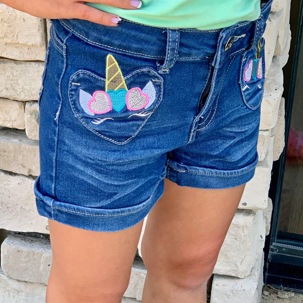 Unicorn Shorts For Girls