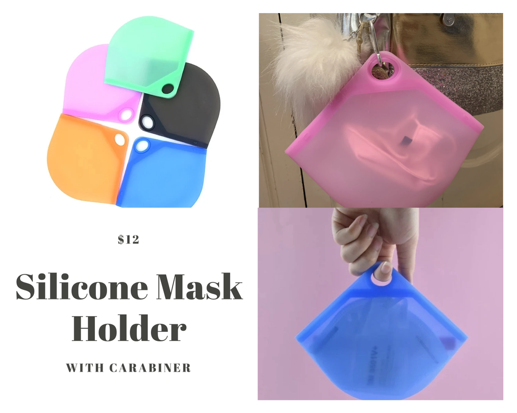 Silicone Mask Holder with Carabiner