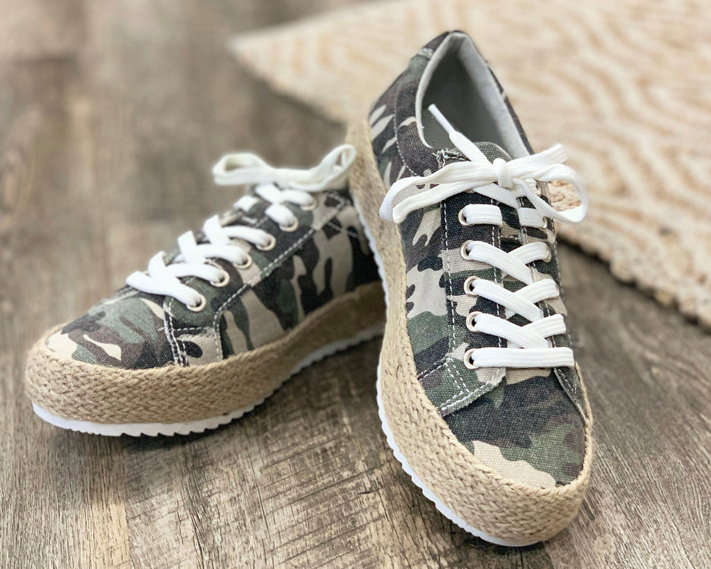 Very G Camo Canvas Espadrille Sneakers