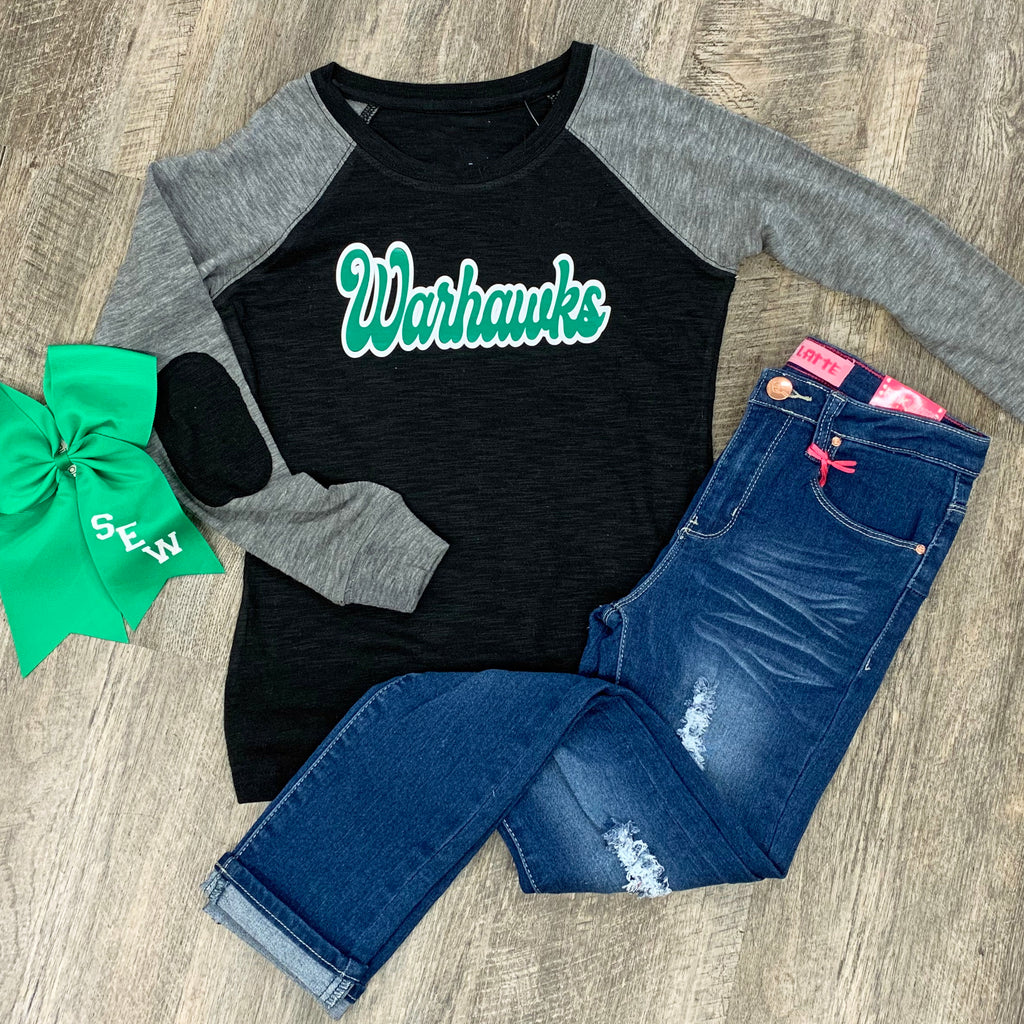 Warhawks Patch Raglan For Girls