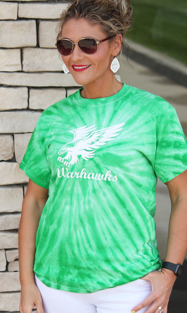 Southeast Warren Warhawks Green Tie Dye - Adult Unisex