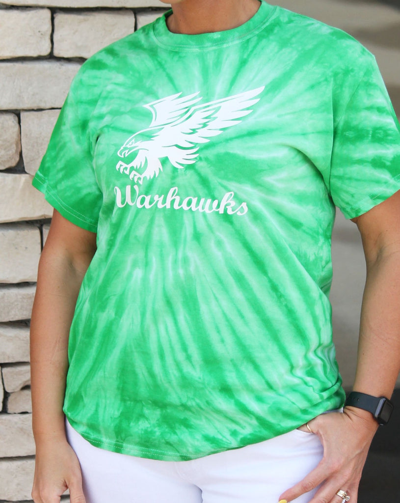 Southeast Warren Warhawks Green Tie Dye - Youth