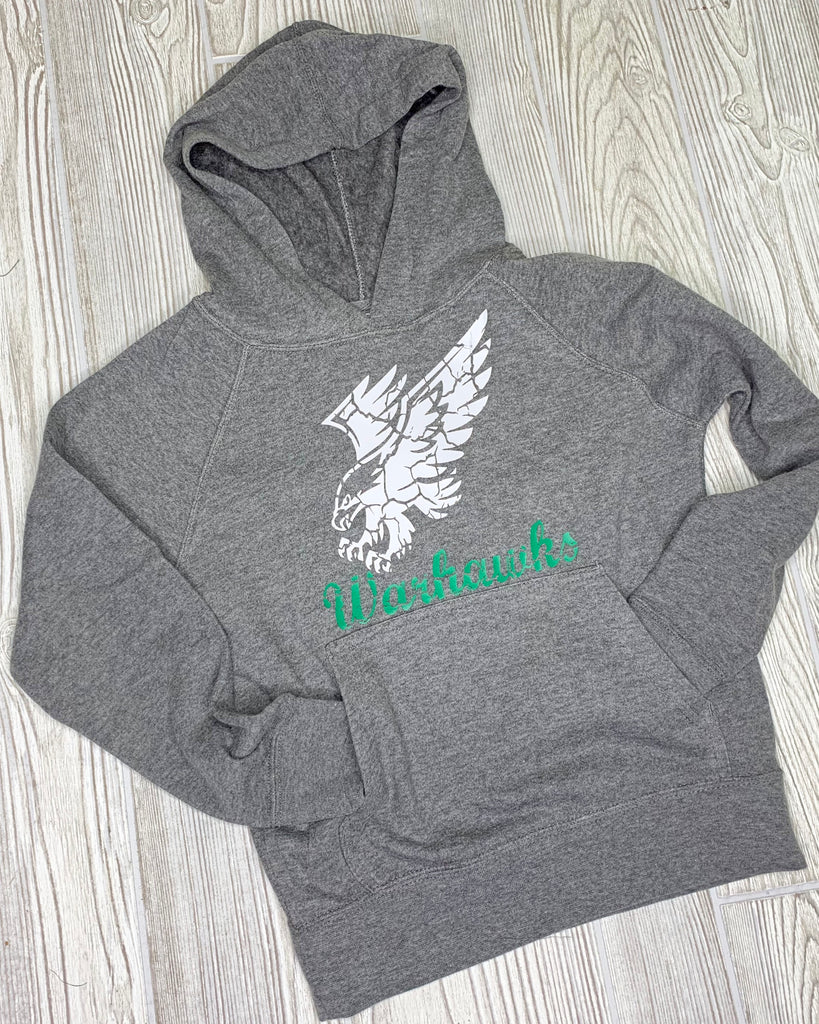 Warhawks Gray Hooded Sweatshirt For Toddler & Youth