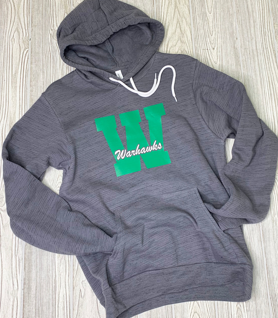 Warhawks Gray Marble Hooded Sweatshirt - Unisex