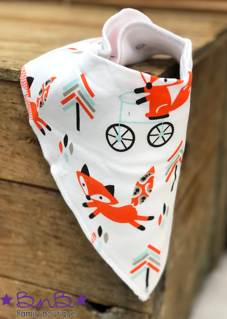What Does The Fox Say? Bandana Bib