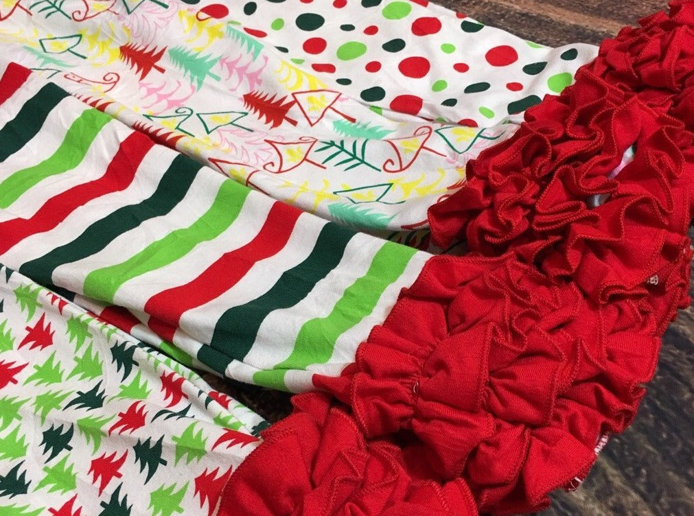 Christmas Ruffle Leggings