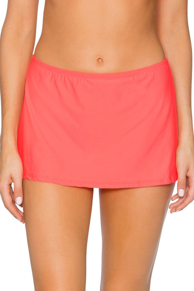 Sunsets Bright Guava Kokomo Swim Skirt