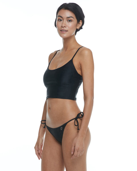 Body Glove Smoothies Norah Swim Crop Top - Black