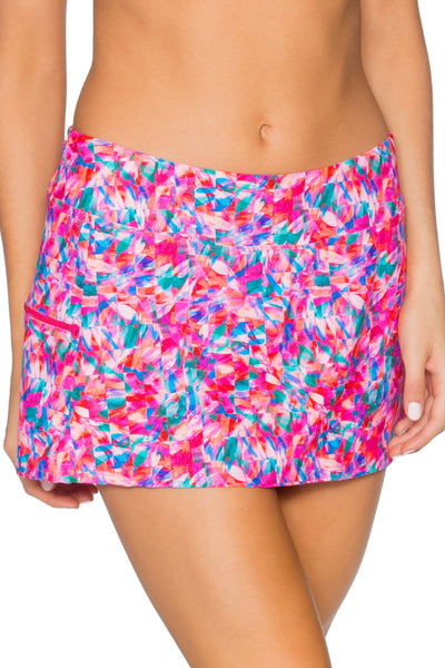 Sunsets Kaleidoscope Sporty Swim Skirt