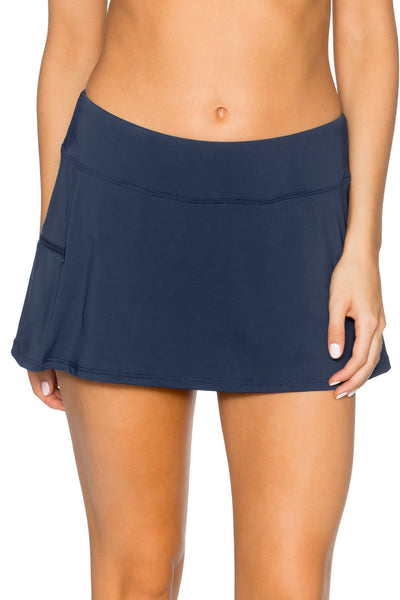 Sunsets Slate Sporty Swim Skirt