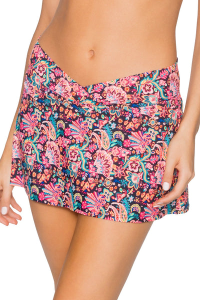Sunsets London Calling Black Summer Lovin Swim Skirt