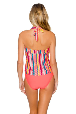 Sunsets Bungalow Stripe Hayden Halterkini