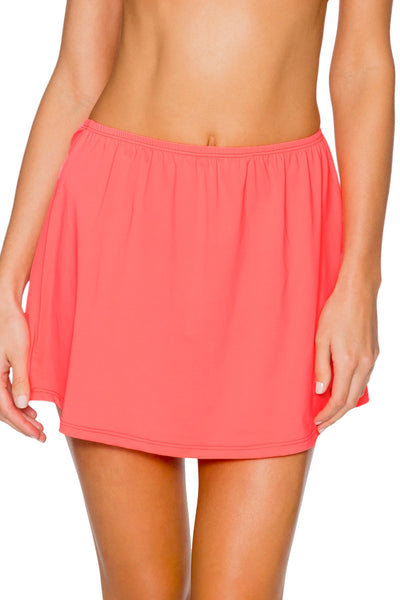 Sunsets Bright Guava Del Mar Cover Up Skirt