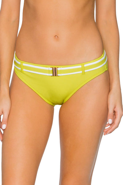 Swim Systems Lemon Drop Zuma Belted Hipster