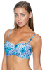Sunsets Underwire Twist Bandeau Top w/ Foam Bra (D/DD Cup)