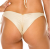 Luli Fama Gold Rush Wavey Ruched Back Brazilian Tie Side Bottom