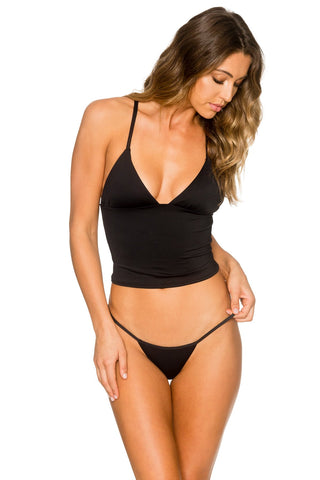 B Swim Midnight Palm Cross Top