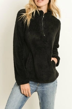 Zip-front Pullover Sweater
