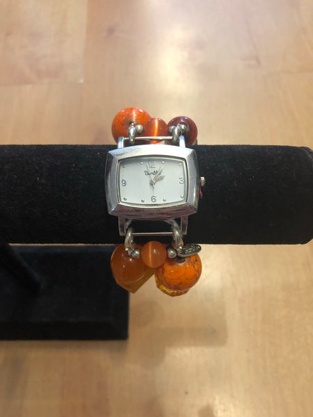 Orange Beaded Watch