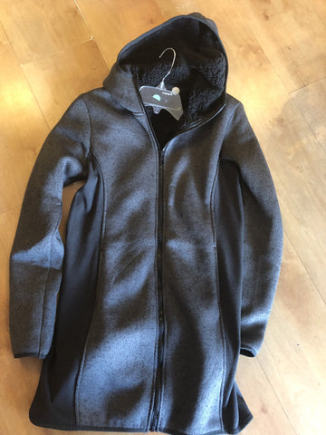 Cozy zip-up hoodie jacket