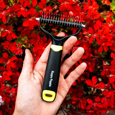 Happy Puppin Professional Double Sided Grooming Tool for Dogs and Cats