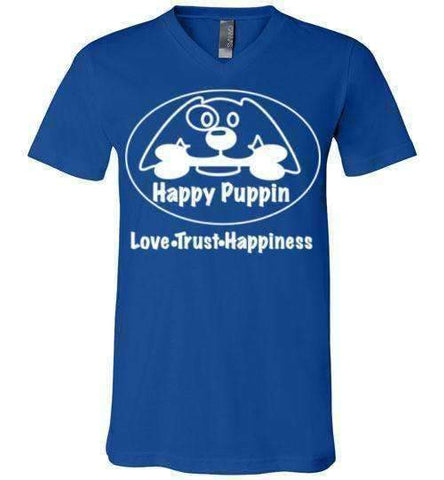 Happy Puppin Canvas Unisex T-Shirt - Made in USA