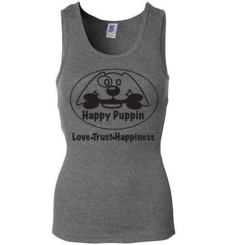 Happy Puppin Bella Wide Strap Tank (Woman's)