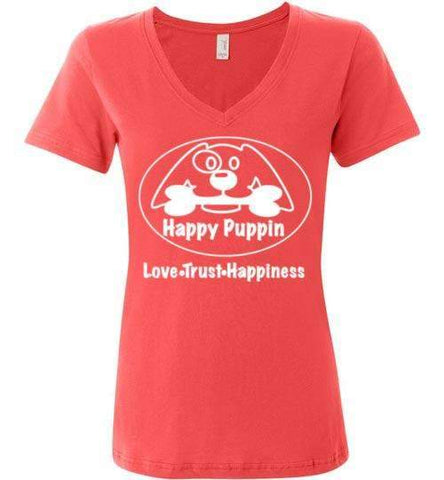 Happy Puppin Ladies Featherweight V-Neck