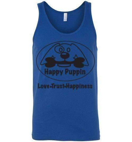 Happy Puppin Canvas Unisex Tank
