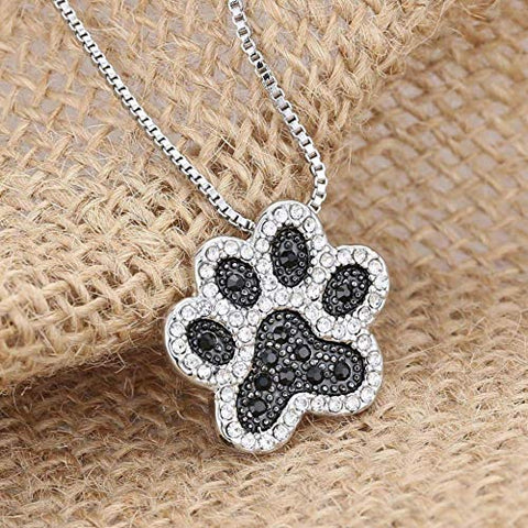 Happy Puppin Paw Print with Crystals