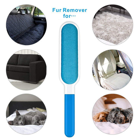 Pet Hair Remover Brush | Reusable Pet Fur and Lint Remover Brush with Self-Cleaning Base + Travel-Size Dog Cat Fur & Lint Removal + Grooming Glove
