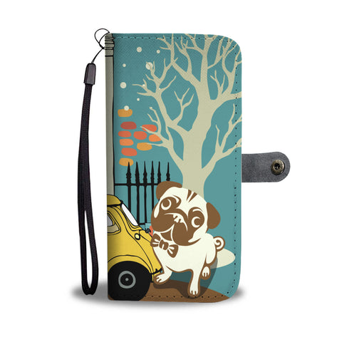 Happy Puppin Pug Phone Case Wallet