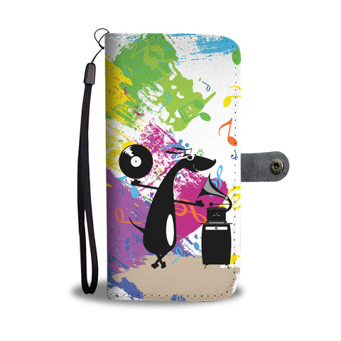 Happy Puppin Vinyl Records Phone Case Wallet