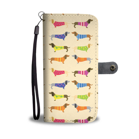 Happy Puppin Dachshund Phone Case Wallet