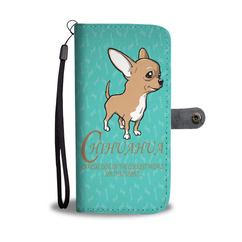 Happy Puppin Chihuahua Phone Case Wallet