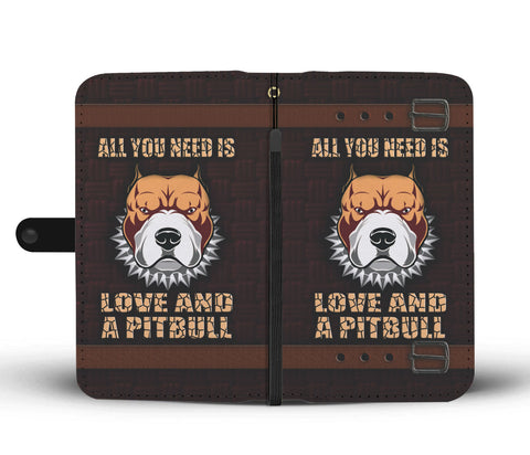Happy Puppin Pitbull Love Phone Case Wallet