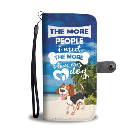 Happy Puppin Dog Love Phone Case Wallet