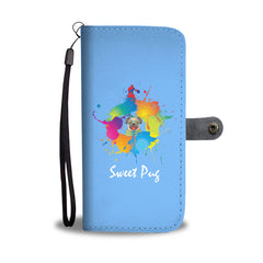 Happy Puppin Sweet Pug Phone Case Wallet