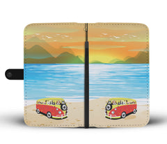 Happy Puppin VW Sunset Phone Case Wallet