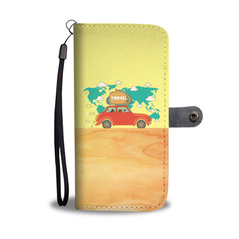 Happy Puppin Travel Phone Case Wallet
