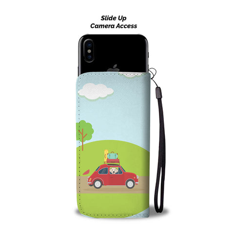 Happy Puppin Car Ride Phone Case Wallet