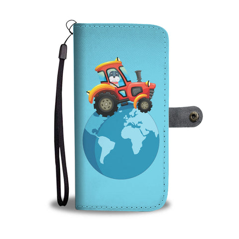 Happy Puppin Tractor World Phone Case Wallet