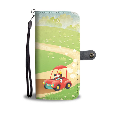 Happy Puppin Sunday Drive Phone Case Wallet