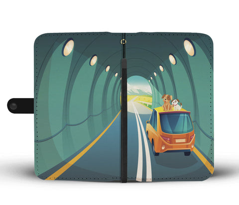 Happy Puppin Road Trip Phone Case Wallet