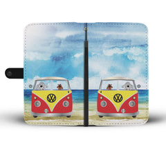 Happy Puppin Red VW Phone Case Wallet