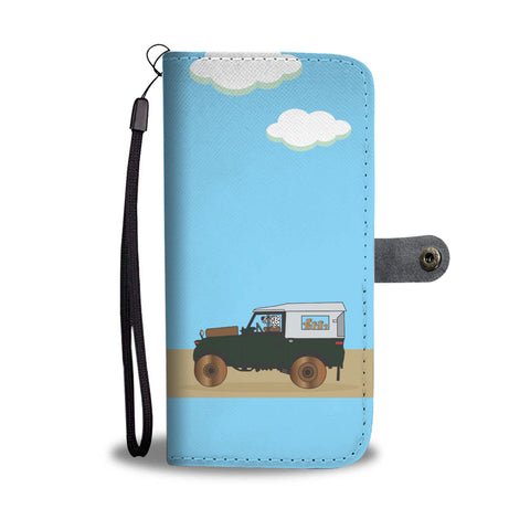 Happy Puppin Land Rover Phone Case Wallet